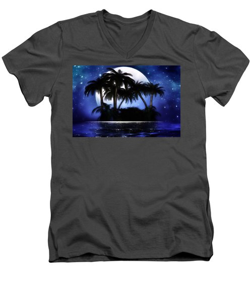 Shadow Island Men's V-Neck T-Shirt by Gabriella Weninger - David
