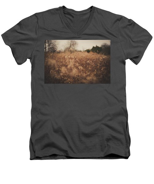 Men's V-Neck T-Shirt featuring the photograph Ghost by Shane Holsclaw