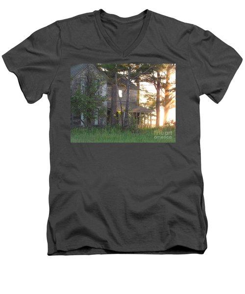 Ghostly Light Men's V-Neck T-Shirt