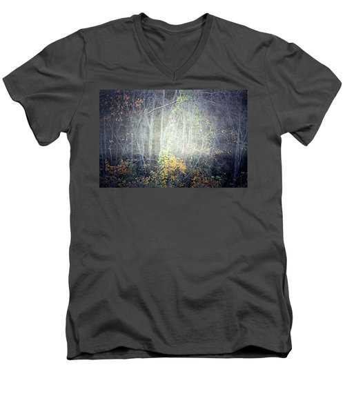 Men's V-Neck T-Shirt featuring the photograph Ghosts Of The Forest 2 by Tara Turner