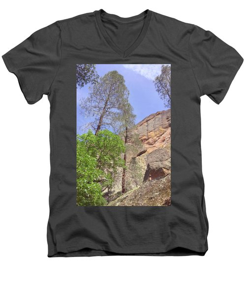 Men's V-Neck T-Shirt featuring the photograph Giant Boulders by Art Block Collections