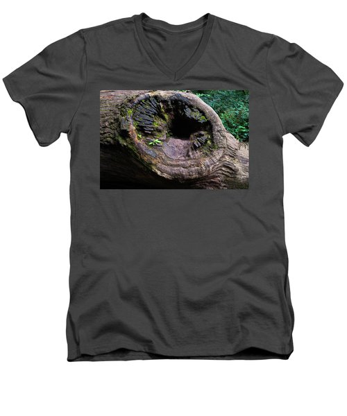 Giant Knot In Tree Men's V-Neck T-Shirt by Scott Lyons