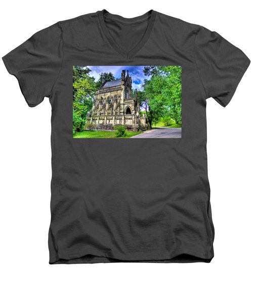 Giant Spring Grove Mausoleum Men's V-Neck T-Shirt