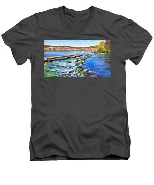 Giant Springs 3 Men's V-Neck T-Shirt by Susan Kinney