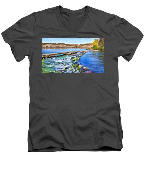 Giant Springs 3 Men's V-Neck T-Shirt