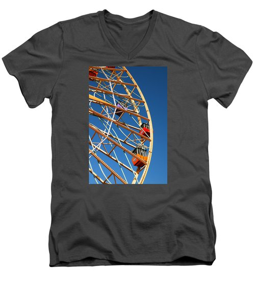 Giant Wheel Men's V-Neck T-Shirt by James Kirkikis