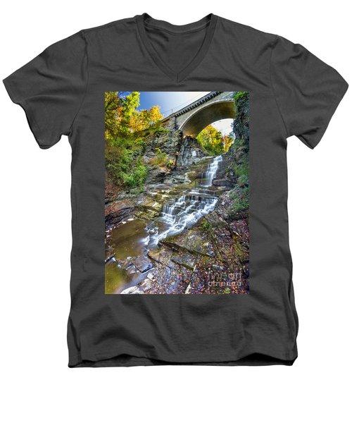 Giant's Staircase Under College Avenue Bridge Men's V-Neck T-Shirt