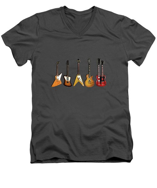 Gibson Electric Guitar Collection Men's V-Neck T-Shirt