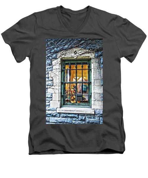 Gift Shop Window Men's V-Neck T-Shirt by Sandy Moulder