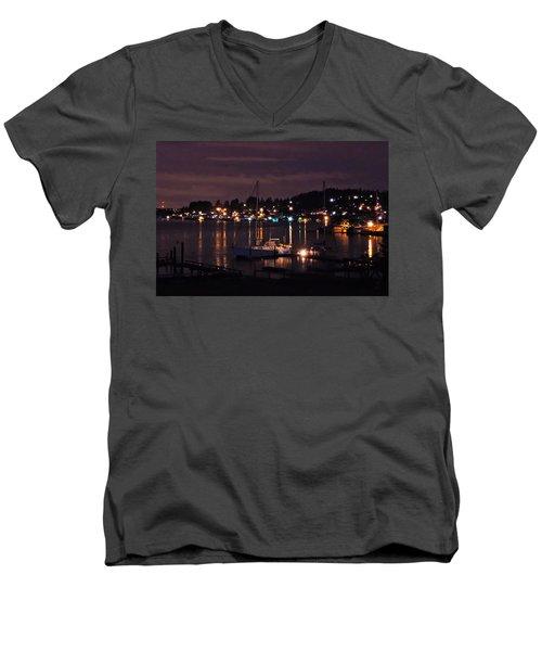 Gig Harbor At Night Men's V-Neck T-Shirt
