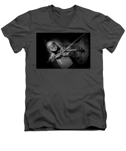 Gilrs And  Music Men's V-Neck T-Shirt by Kevin Cable