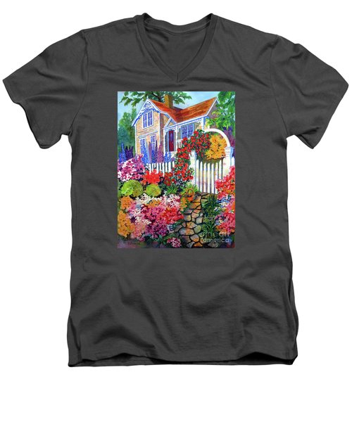 Gingerbread In Bloom Men's V-Neck T-Shirt