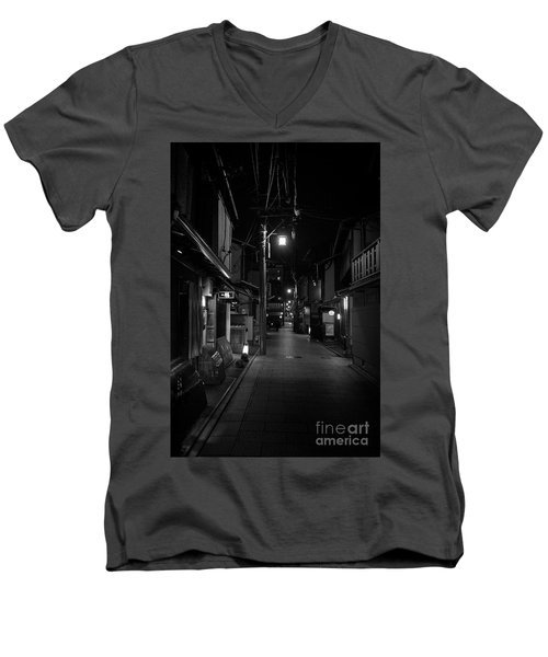 Gion Street Lights, Kyoto Japan Men's V-Neck T-Shirt