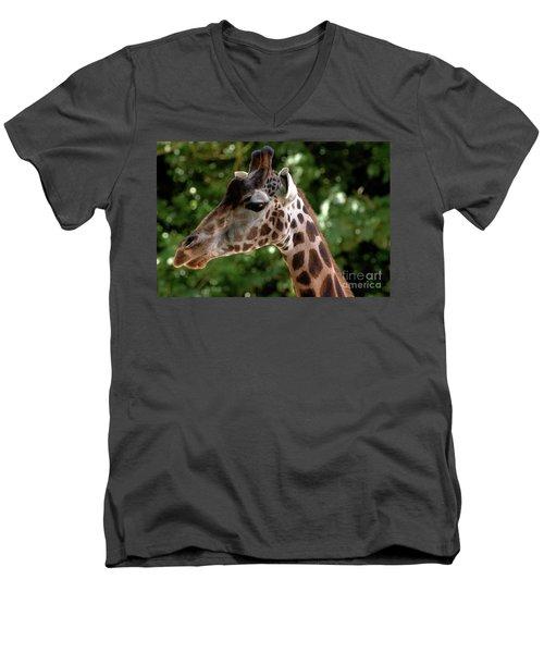 Giraffe Portrait Men's V-Neck T-Shirt