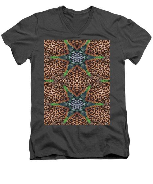Giraffe Stars Men's V-Neck T-Shirt by Maria Watt
