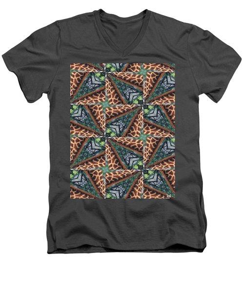 Giraffe Through The Window Men's V-Neck T-Shirt