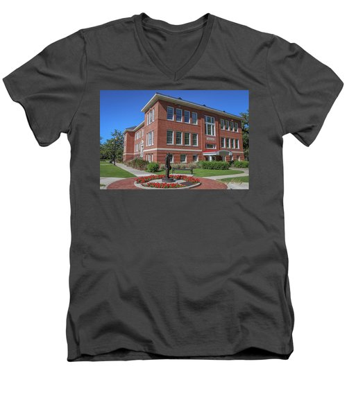 Men's V-Neck T-Shirt featuring the photograph Girard Hall Day Shot by Gregory Daley  PPSA