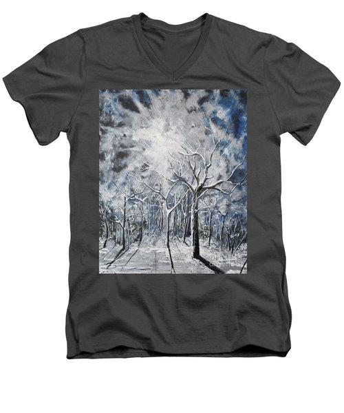 Girl In The Woods Men's V-Neck T-Shirt