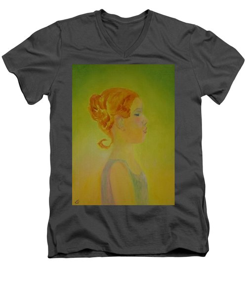 The Girl With The Curl Men's V-Neck T-Shirt