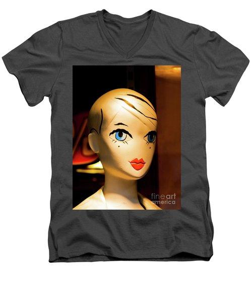 Girl_04 Men's V-Neck T-Shirt