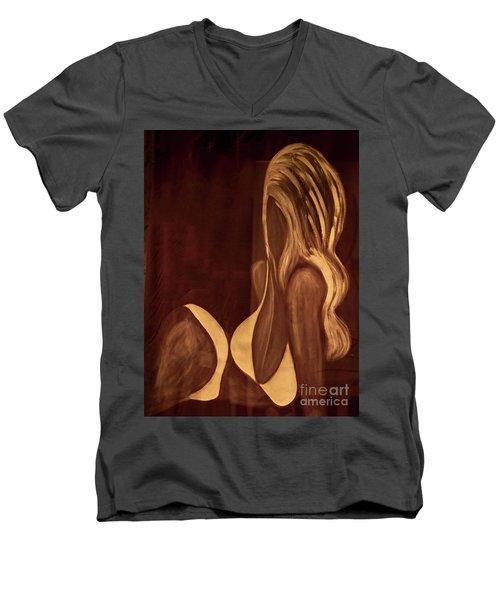 Girl_05 Men's V-Neck T-Shirt