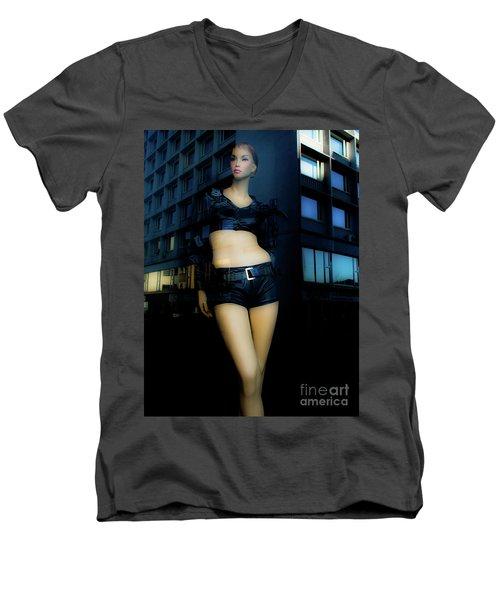 Girl_08 Men's V-Neck T-Shirt