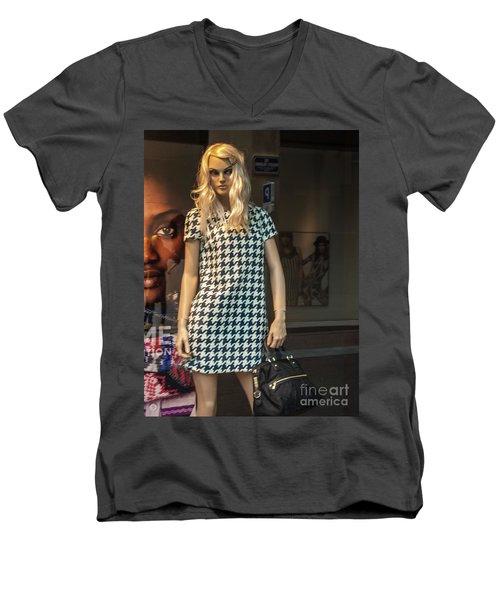 Girl_10 Men's V-Neck T-Shirt