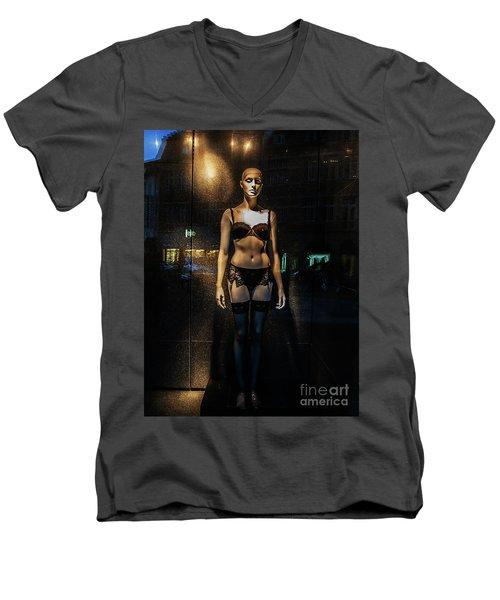 Girl_11 Men's V-Neck T-Shirt
