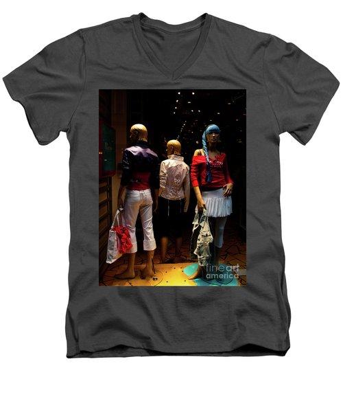 Girls_01 Men's V-Neck T-Shirt