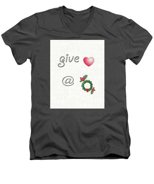 Give Love At Christmas Men's V-Neck T-Shirt