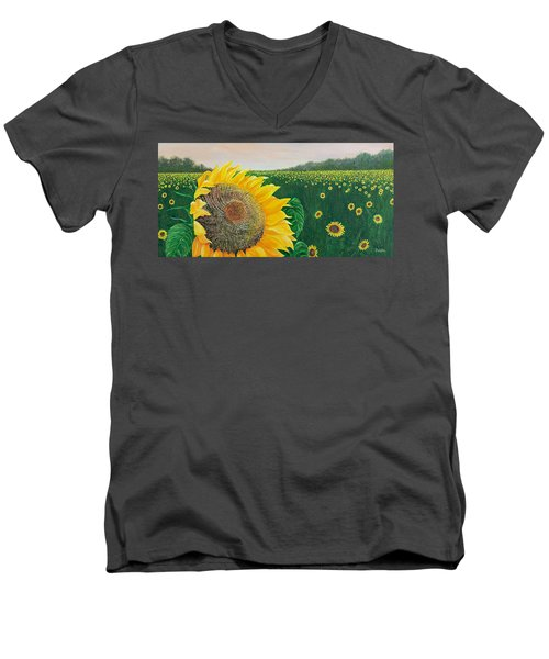 Men's V-Neck T-Shirt featuring the painting Giver Of Life by Susan DeLain