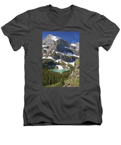 Glacier Backcountry Men's V-Neck T-Shirt by Gary Lengyel