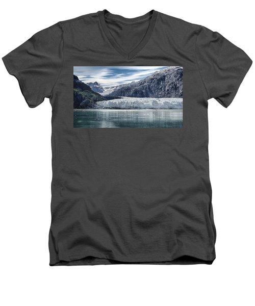 Glacier Bay Alaska Men's V-Neck T-Shirt by Gary Warnimont