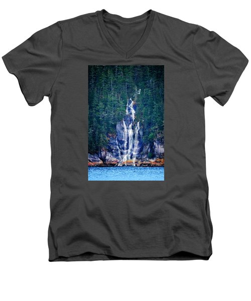 Glacier Falls 2 Men's V-Neck T-Shirt