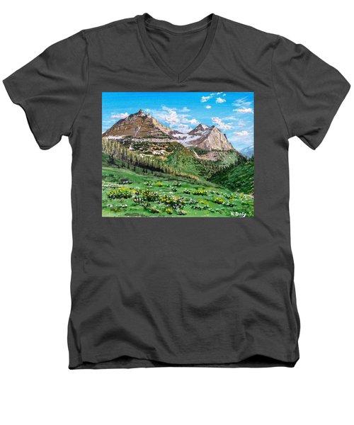 Glacier Summer Men's V-Neck T-Shirt