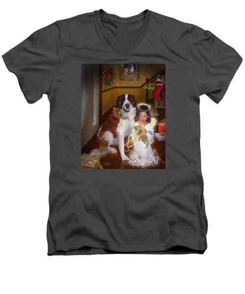 Glad Tidings Men's V-Neck T-Shirt