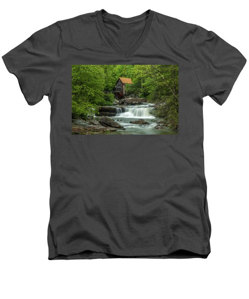 Glade Creek Grist Mill In May Men's V-Neck T-Shirt
