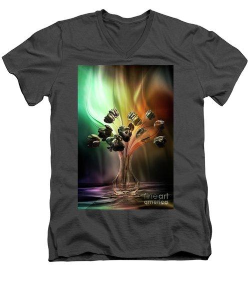 Glasblower's Tulips Men's V-Neck T-Shirt