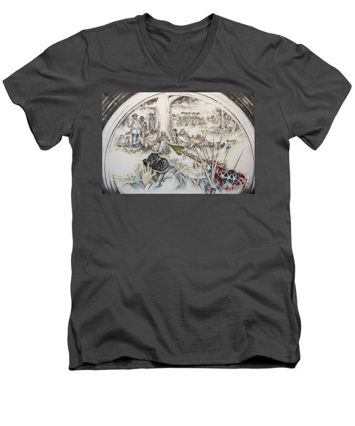 Glass Aftermath Men's V-Neck T-Shirt by Scott and Dixie Wiley