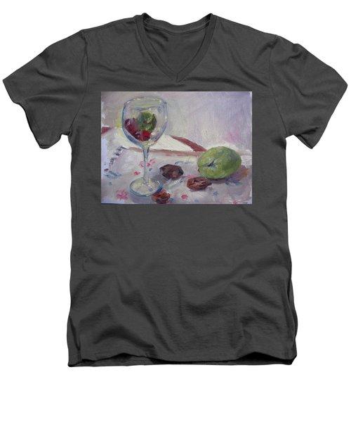 Glass And Fruit Men's V-Neck T-Shirt