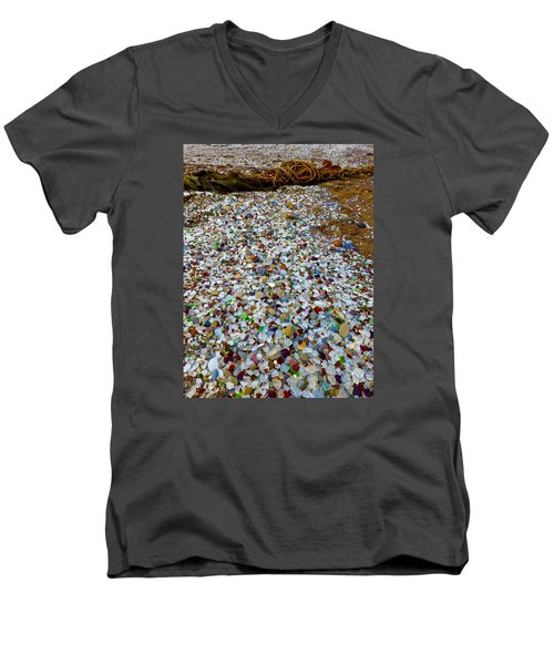 Glass Beach Men's V-Neck T-Shirt by Amelia Racca