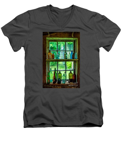 Glass Bottles Men's V-Neck T-Shirt