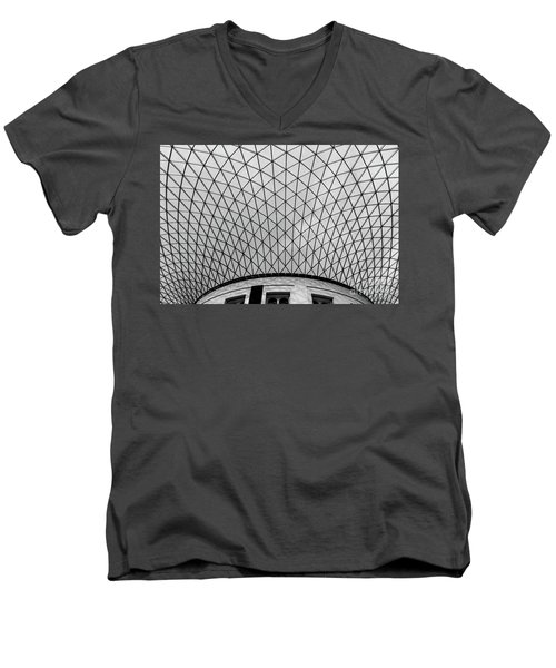 Men's V-Neck T-Shirt featuring the photograph Glass Ceiling by MGL Meiklejohn Graphics Licensing