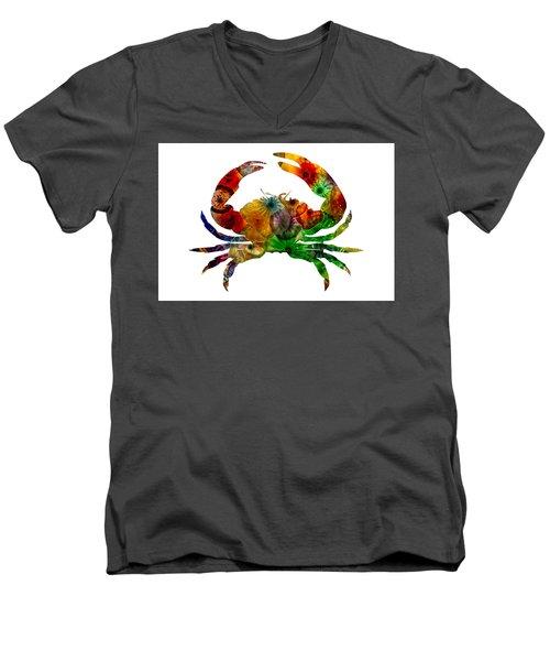 Glass Crab Men's V-Neck T-Shirt