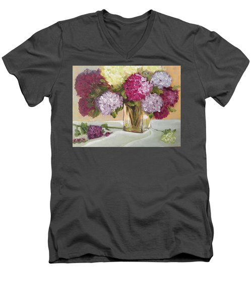 Glass Vase Men's V-Neck T-Shirt by Sharon Schultz