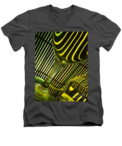 Glasses And Lines Men's V-Neck T-Shirt by Trena Mara