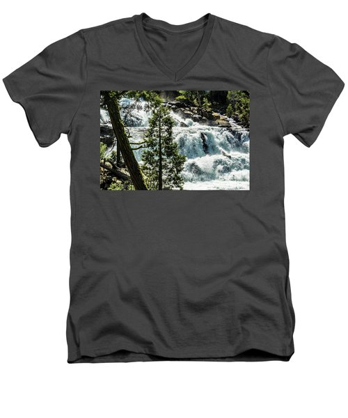 Glen Alpine Falls 1 Men's V-Neck T-Shirt