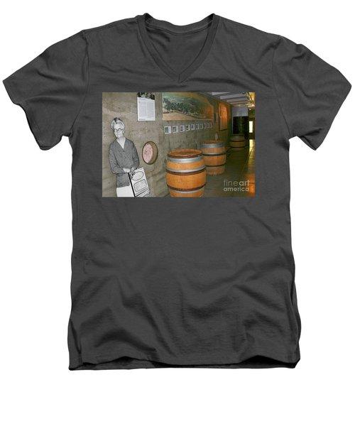 Glen Ellen Wine And History Men's V-Neck T-Shirt
