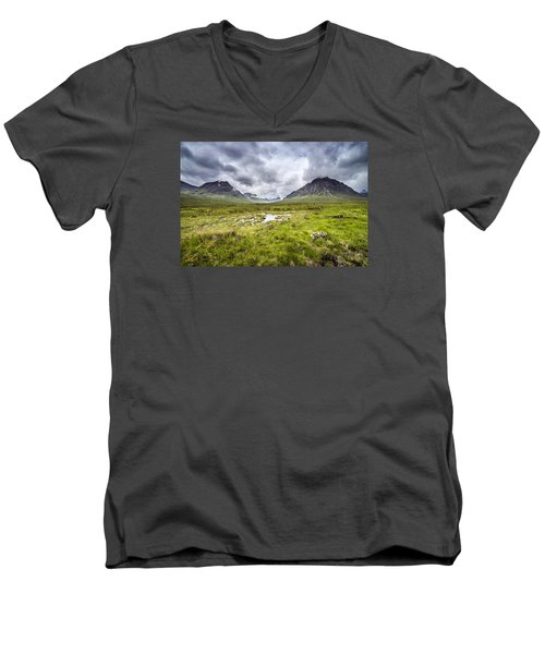 Men's V-Neck T-Shirt featuring the photograph Glencoe by Jeremy Lavender Photography