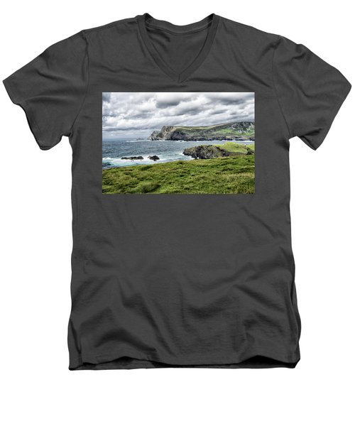 Men's V-Neck T-Shirt featuring the photograph Glencolmcille by Alan Toepfer